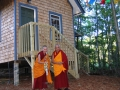 15 with Kyabje Lama Zopa Rinpoche at newly completed Tiny House 1