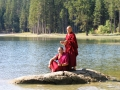 4 Rinpoche and Alok at Lake in Valley